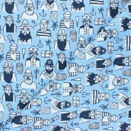Dear Stella cotton fabric Bootylicious - light blue All about the booty x 10cm