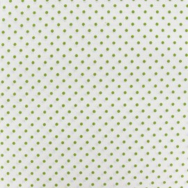 Little Dots Fabric - Moss Green / White x 10cm