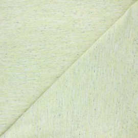 Flamed light jersey fabric - lime green Olando x 10cm