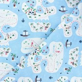 Dear Stella cotton fabric Bootylicious - light blue Bootylicious x 10cm