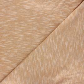 Flamed light jersey fabric - camel Olando x 10cm