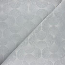 Tissu jacquard Freda - gris x 10cm