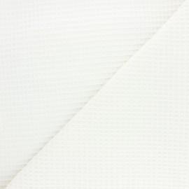 Tissu piqué de coton nid d'abeille Balmoral - écru x 10cm