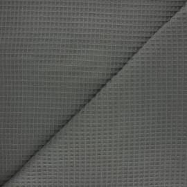 Tissu piqué de coton nid d'abeille Balmoral - kaki foncé x 10cm