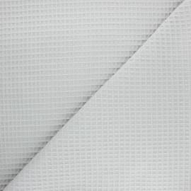 Tissu piqué de coton nid d'abeille Balmoral - gris clair x 10cm
