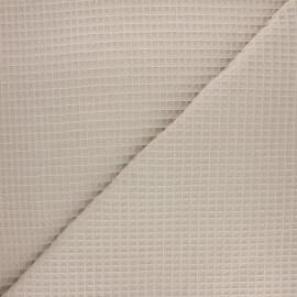 Tissu piqué de coton nid d'abeille Balmoral - sable x 10cm