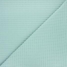 Tissu piqué de coton nid d'abeille Balmoral - vert sauge x 10cm