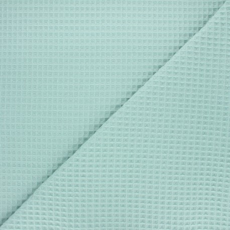 Waffle stitch cotton fabric - sage green Balmoral x 10cm