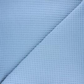 Waffle stitch cotton fabric - light blue Balmoral x 10cm