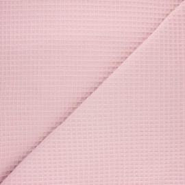 Tissu piqué de coton nid d'abeille Balmoral - rose poudré  x 10cm