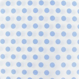 Dots Fabric - Sky / White x 10cm