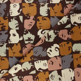 Alexander Henry cotton fabric - brown In crowd x 10 cm