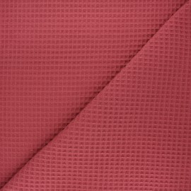 Tissu piqué de coton nid d'abeille Spa - terracotta x 10cm