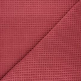 Waffle stitch cotton fabric - terracotta Spa x 10cm