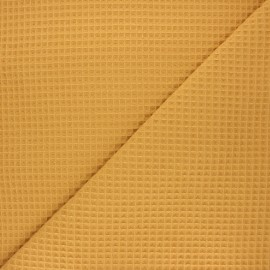 Tissu piqué de coton nid d'abeille Spa - ocre x 10cm