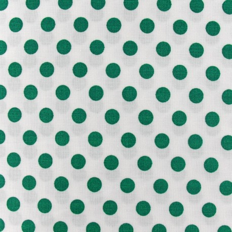 Dots Fabric - Meadow Green / White x 10cm