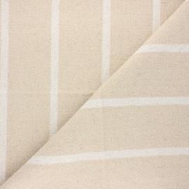 Tissu tissé teint Saint Tropez - blanc x 10cm