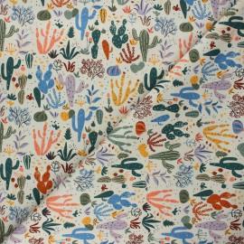 Tissu coton Cloud9 Arid wilderness - Cacti and succulents x 10 cm