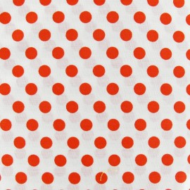 Dots Fabric - Orange / White x 10cm