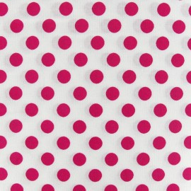 Dots Fabric - Fuchsia / White x 10cm