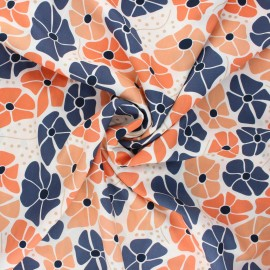 Cloud9 rayon fabric Floral deco - Flower x 10 cm