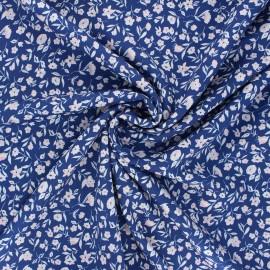 Cloud9 rayon fabric - blue Blossom x 10 cm