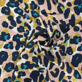Viscose fabric Atelier Jupe - white Sweet leo x 10cm