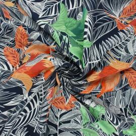 Tissu viscose Atelier Jupe Keola - bleu nuit x 10cm
