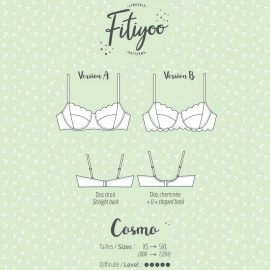 Fitiyoo Sewing Pattern - Cosmo bra