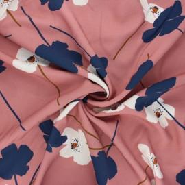 Tissu viscose Atelier Jupe Coquelicot - vieux rose x 10cm