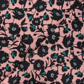 Atelier Jupe Elastane poplin cotton fabric - old pink Léa x 10cm
