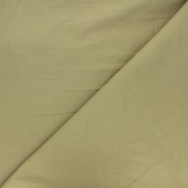 Tissu popeline de coton Fibre Bio - Kassam olive x 10cm