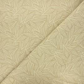 Tissu popeline de coton Fibre Bio - Jungle leaves x 10cm