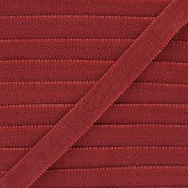 20 mm Lingerie bra elastic - red brick x 1m