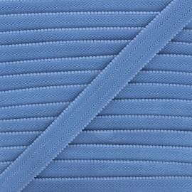 20 mm Lingerie bra elastic - bleuet x 1m