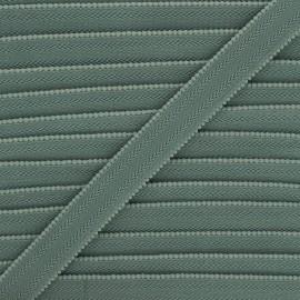 Elastique bretelle lingerie 20 mm - vert de gris x 1m