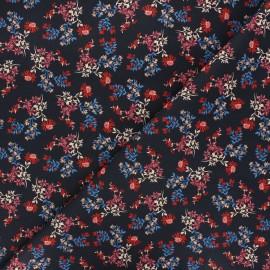 Atelier Jupe Elastane poplin cotton fabric - midnight blue Azalée x 10cm