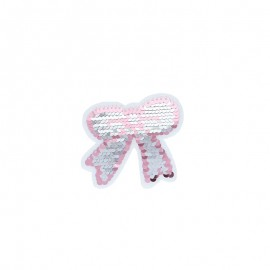 Iron-on patch reversible sequin - Noeud papillon