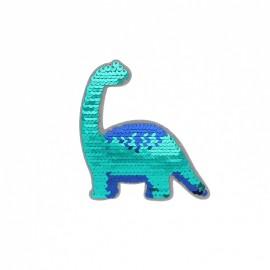 Thermocollant sequins réversible - Dinosaure