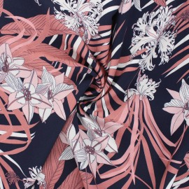 Tissu viscose Atelier Jupe Vanuatu - bleu nuit x 10cm