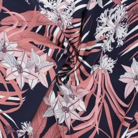 Viscose fabric Atelier Jupe - midnight blue Vanuatu x 10cm