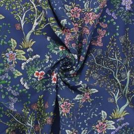 Tissu viscose Atelier Jupe Manée - bleu marine x 10cm