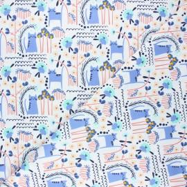 Cotton Steel cotton fabric Glory - bleuet Elsies cat x 10cm