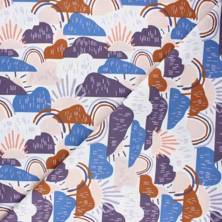 Cotton Steel cotton fabric Dear Isla - purple Hilltop x 10cm