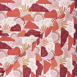Tissu coton Cotton Steel Dear Isla - Hilltop - terracotta x 10cm