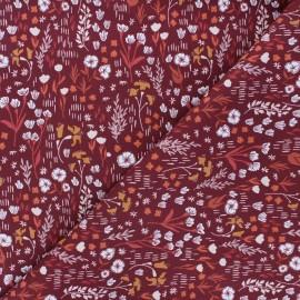 Tissu coton Cotton Steel Dear Isla - Meadow - bordeaux x 10cm