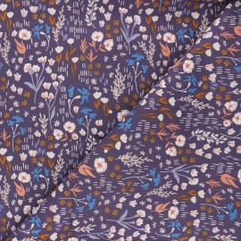 Cotton Steel cotton fabric Dear Isla - purple Meadow x 10cm
