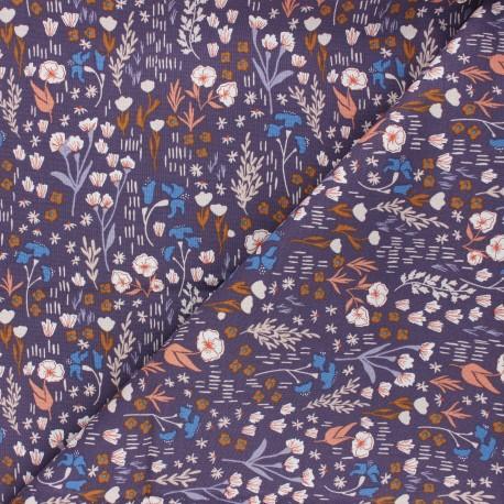 Tissu coton Cotton Steel Dear Isla - Meadow - violet x 10cm