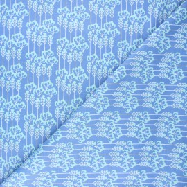 Tissu coton Cotton Steel Glory - Constance - bleuet x 10cm