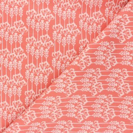 Cotton Steel cotton fabric Glory - coral pink Constance x 10cm